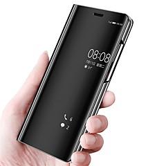 Χαμηλού Κόστους Νέες παραλαβές-tok Για Huawei P20 lite P20 με βάση στήριξης Καθρέφτης Ανοιγόμενη Πλήρης Θήκη Μονόχρωμο Σκληρή PU δέρμα για Huawei P20 lite Huawei P20