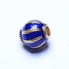 abordables Confección de Perlas y Joyas-Joyería DIY 1pcs Cuentas , Esmalte Legierung Azul Óvalo Talón 0.8cm DIY Gargantillas Pulseras y Brazaletes