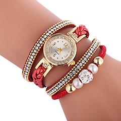preiswerte Damenuhren-Damen Quartz Modeuhr Chinesisch Armbanduhren für den Alltag PU Band Böhmische Modisch Schwarz Weiß Blau Rot Braun Grün Rosa