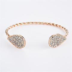preiswerte Armbänder-Damen Kubikzirkonia Manschetten-Armbänder - Zirkon Tropfen Einfach, Modisch Armbänder Gold / Silber Für Alltag / Ausgehen