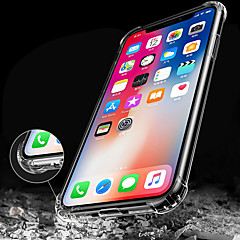 저렴한 -케이스 제품 Apple iPhone X iPhone 8 iPhone 8 Plus iPhone 6 iPhone 6 Plus 충격방지 투명 뒷면 커버 한 색상 소프트 TPU 용 iPhone X iPhone 8 Plus iPhone 8 iPhone 7