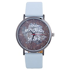 お買い得  レディース腕時計-女性用 ファッションウォッチ クォーツ 大きめ文字盤 PU バンド ハンズ ファッション ワードダイアル腕時計 ブラック / 白 / ブルー - フクシャ Brown ピンク 1年間 電池寿命