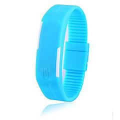 お買い得  大特価腕時計-カップル用 ブレスレットウォッチ デジタル 30 m ラバー バンド デジタル ファッション エレガント ブラック / 白 / ブルー - ライトブルー 葉 レモン