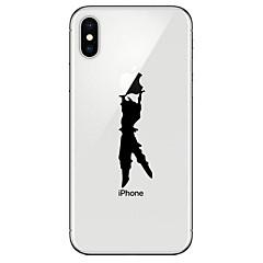 Недорогие Кейсы для iPhone 7 Plus-Кейс для Назначение Apple iPhone X iPhone 8 Прозрачный С узором Кейс на заднюю панель Композиция с логотипом Apple Мягкий ТПУ для iPhone