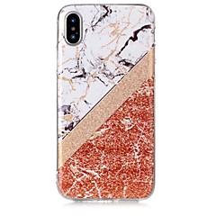 Недорогие Кейсы для iPhone X-Кейс для Назначение Apple iPhone X / iPhone 8 Ультратонкий Кейс на заднюю панель Мрамор Мягкий ТПУ для iPhone X / iPhone 8 Pluss / iPhone 8