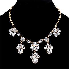 preiswerte Halsketten-Damen Kubikzirkonia Statement Ketten  -  Krystall, Zirkon Tropfen Süß, Modisch Gold, Silber 45+5.4 cm Modische Halsketten Für Verabredung, Bar