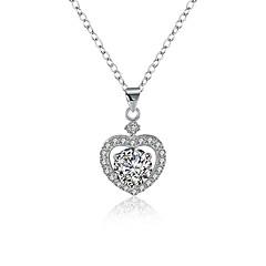 preiswerte Halsketten-Damen Kubikzirkonia Anhängerketten - S925 Sterling Silber Herz damas, Modisch Silber 40 cm Modische Halsketten Schmuck 1 Für Geschenk, Alltag
