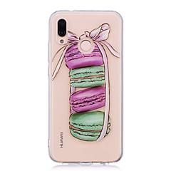 billige Nyheder-Etui Til Huawei P20 lite P20 Pro IMD Transparent Mønster Bagcover Mad Blødt TPU for Huawei P20 lite Huawei P20 Pro Huawei P20 P10 Plus