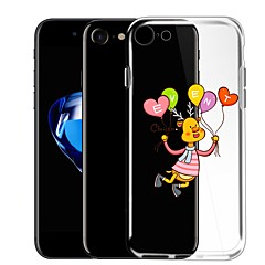 Недорогие Кейсы для iPhone-Кейс для Назначение Apple iPhone 7 Прозрачный С узором Кейс на заднюю панель Воздушные шары Мультипликация Мягкий ТПУ для iPhone 7