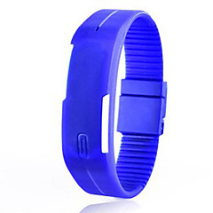 preiswerte Damenuhren-Paar Armband-Uhr digital 30 m Caucho Band digital Modisch Elegant Schwarz / Weiß / Blau - Hellblau Blatt Zitronengelb