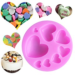 お買い得  ベイキング用品&ガジェット-ベークツール シリコーン DIY バレンタイン・デー 誕生日 クリエイティブキッチンガジェット 出芽 キャンディのための ケーキのための チョコレート クッキー ケーキ型