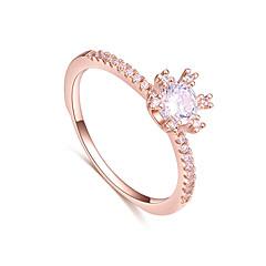 preiswerte Ringe-Damen Bandring - Zirkon, Kupfer Einfach, Grundlegend, Modisch 7 Silber / Rotgold Für Hochzeit / Geschenk