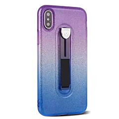 Недорогие Кейсы для iPhone-Кейс для Назначение Apple iPhone X iPhone 8 Кольца-держатели Сияние и блеск Кейс на заднюю панель Сияние и блеск Мягкий ТПУ для iPhone X