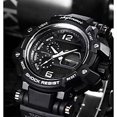 お買い得  メンズ腕時計-SHIFENMEI 男性用 デジタル スポーツウォッチ 日本産 カレンダー 耐水 大きめ文字盤 カジュアルウォッチ アンカー Plastic バンド ぜいたく カジュアル ブラック