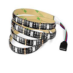 voordelige RGB-verlichtingsstrips-1m RGB-verlichtingsstrips 30 LEDs 1 DC-kabels RGB Knipbaar Waterbestendig Zelfklevend Koppelbaar Decoratief Voeding Via USB 5V