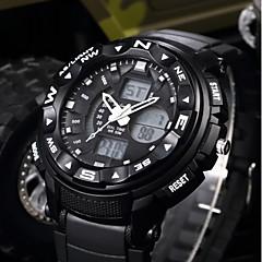 お買い得  メンズ腕時計-SHIFENMEI 男性用 デジタル スポーツウォッチ 日本産 カレンダー 大きめ文字盤 カジュアルウォッチ LCD Plastic バンド ぜいたく カジュアル ブラック