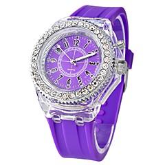 お買い得  メンズ腕時計-女性用 中国 クロノグラフ付き / クリエイティブ / 大きめ文字盤 シリコーン バンド 光沢タイプ ブラック / 白 / オレンジ