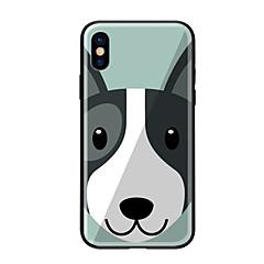 Недорогие Кейсы для iPhone 7-Кейс для Назначение Apple iPhone X iPhone 8 С узором Кейс на заднюю панель С собакой Твердый Закаленное стекло для iPhone X iPhone 8