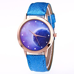 preiswerte Damenuhren-Damen Armbanduhr Chinesisch Kreativ / Armbanduhren für den Alltag / Großes Ziffernblatt PU Band Freizeit / Modisch Schwarz / Weiß / Blau