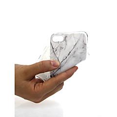 Недорогие Кейсы для iPhone X-Кейс для Назначение Apple iPhone X / iPhone 7 Ультратонкий / С узором / Милый Кейс на заднюю панель Мрамор Мягкий ТПУ для iPhone X / iPhone 8 Pluss / iPhone 8