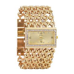 preiswerte Damenuhren-Damen Quartz Armbanduhr Chinesisch Chronograph / Imitation Diamant / Armbanduhren für den Alltag Legierung Band Luxus / Armreif Silber /