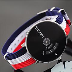 preiswerte Damenuhren-Damen Armbanduhr Chinesisch Armbanduhren für den Alltag Nylon Band Mehrfarbig / Modisch Blau / Rot / Grün
