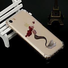 Недорогие Кейсы для iPhone 5-Кейс для Назначение Apple iPhone X iPhone 8 Защита от удара Полупрозрачный Кейс на заднюю панель Соблазнительная девушка Мягкий ТПУ для
