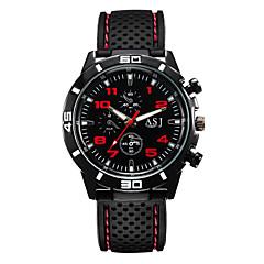 tanie Promocje zegarków-Męskie Kwarcowy Zegarek na nadgarstek Duża tarcza Silikon Pasmo Sportowe Czarny