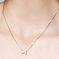 preiswerte Halsketten-Damen Anhängerketten / Ketten - 18K vergoldet, S925 Sterling Silber Schleife Zierlich, Einfach Gold 40 cm Modische Halsketten Für Alltag, Festival