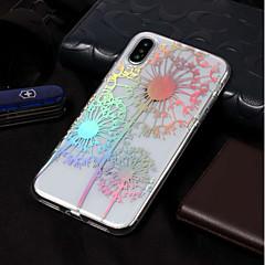 Недорогие Кейсы для iPhone 7-Кейс для Назначение Apple iPhone X / iPhone 8 Покрытие / С узором Кейс на заднюю панель одуванчик Мягкий ТПУ для iPhone X / iPhone 8