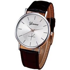 お買い得  メンズ腕時計-男性用 ドレスウォッチ 中国 クロノグラフ付き PU バンド カジュアル ブラック