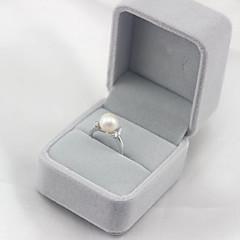preiswerte Ringe-Damen Süßwasserperle Öffne den Ring - Schwarze Perle, S925 Sterling Silber, Süßwasserperle Einfach, Modisch, Elegant Verstellbar Weiß / Schwarz Für Party Geschenk