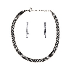 abordables Bijoux pour Femme-Transparente Ensemble de bijoux - Goutte Rétro, Européen Comprendre Or / Noir / Argent Pour Carnaval / Boucles d'oreille