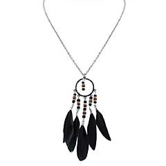 preiswerte Halsketten-Tansanit Dicke Kette Anhängerketten / Ketten - Fahhrad, Feder Ethnisch, Modisch Dunkelblau, Regenbogen, Hellblau 70 cm Modische Halsketten Für Strasse, Festtage