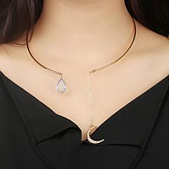 お買い得  ネックレス-女性用 MOON チョーカー  -  ボヘミアンスタイル 円形 ゴールド 20cm ネックレス 用途 贈り物 パーティー ストリート