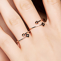 preiswerte Ringe-Damen Geometrisch Öffne den Ring - S925 Sterling Silber Blume, Kugel Zierlich, Koreanisch, Modisch 8 Rotgold Für Alltag / Valentinstag