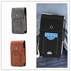 Недорогие Универсальные чехлы и сумочки-Кейс для Назначение SSamsung Galaxy S9 Plus / S9 Бумажник для карт Мешочек Однотонный Твердый Настоящая кожа для S9 / S9 Plus / S8 Plus