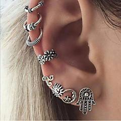 preiswerte Ohrringe-Damen Geometrisch Ohrstecker Kreolen Ohr-Stulpen - Sonne, MOON Böhmische, Ethnisch, Boho Silber Für Party Strasse