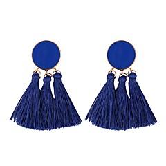 preiswerte Ohrringe-Quaste Tropfen-Ohrringe / Kreolen - Quaste, Europäisch, Modisch Blau / Leicht Rosa / Oberfläche Für Alltag / Festival