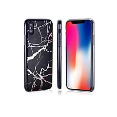 Недорогие Кейсы для iPhone X-Кейс для Назначение Apple iPhone 8 / iPhone 8 Plus Покрытие / IMD / Ультратонкий Кейс на заднюю панель Мрамор Мягкий ТПУ для iPhone X /