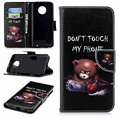 Недорогие Чехлы и кейсы для Motorola-Кейс для Назначение Motorola MOTO G6 / Moto G6 Plus Кошелек / Бумажник для карт / со стендом Чехол Слова / выражения Твердый Кожа PU для