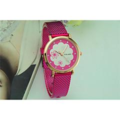 お買い得  レディース腕時計-女性用 リストウォッチ カジュアルウォッチ Plastic バンド 花型 / ファッション ブラック / 白 / レッド