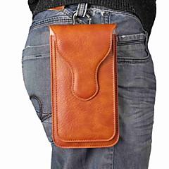 Недорогие Универсальные чехлы и сумочки-Кейс для Назначение SSamsung Galaxy S9 Plus / S9 Магнитный Мешочек Однотонный Мягкий Настоящая кожа для S9 / S9 Plus / S8 Plus