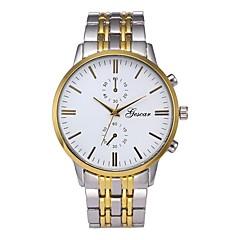 お買い得  メンズ腕時計-男性用 クォーツ ドレスウォッチ 中国 クロノグラフ付き 大きめ文字盤 カジュアルウォッチ ステンレス バンド ぜいたく クリエイティブ シルバー