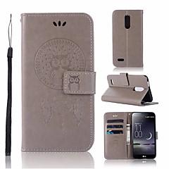 Недорогие Чехлы и кейсы для LG-Кейс для Назначение LG K10 2018 Кошелек / Бумажник для карт / со стендом Чехол Сова Твердый Кожа PU для LG K10 2018