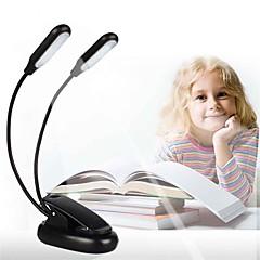 preiswerte Ausgefallene LED-Beleuchtung-1pc LED-Nachtlicht Warmes Weiß Weiß Warmes Weiß + Weiß AAA-Batterien angetrieben Verstellbar Abblendbar Buch lesen mit Clip Nacht Batterie