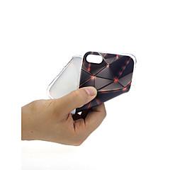 Недорогие Кейсы для iPhone X-Кейс для Назначение Apple iPhone X / iPhone 7 Ультратонкий / С узором / Милый Кейс на заднюю панель Геометрический рисунок Мягкий ТПУ для
