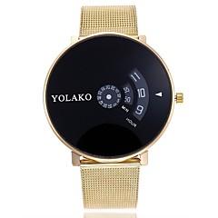 お買い得  メンズ腕時計-男性用 ドレスウォッチ 中国 クロノグラフ付き ステンレス バンド クリエイティブ シルバー / ゴールド