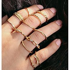 abordables Bijoux pour Femme-Empilable Bague de Phalange Ensemble d'anneaux - Alliage simple, Européen, Mode 7 Or Pour Quotidien / 12 pcs