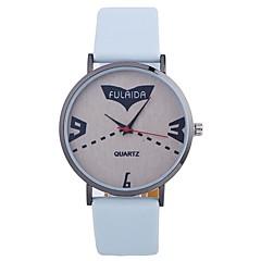 preiswerte Damenuhren-Damen Armbanduhr Chinesisch Großes Ziffernblatt / Armbanduhren für den Alltag PU Band Minimalistisch / Modisch Schwarz / Weiß / Silber